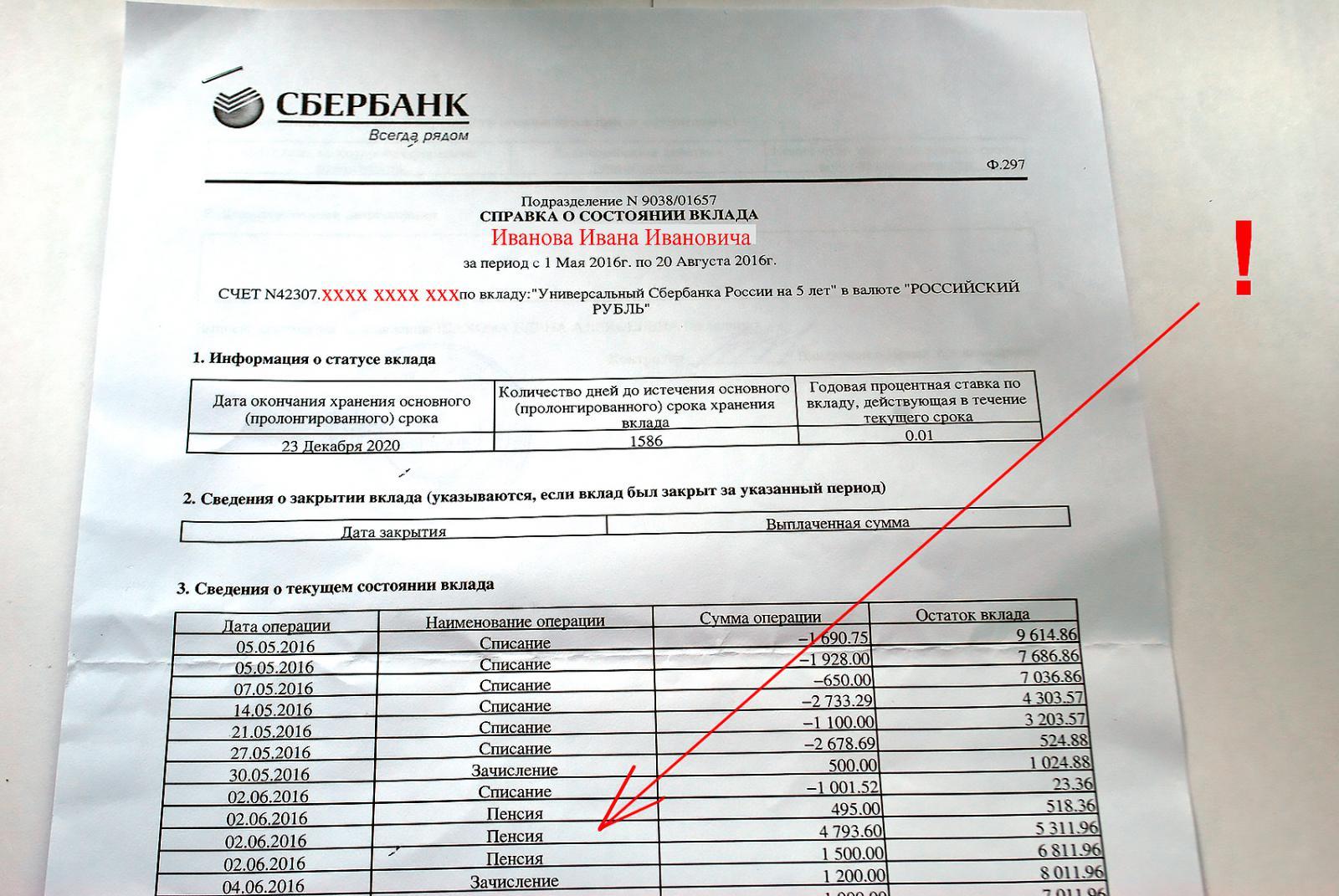 Справка из пенсионного фонда о размере пенсии